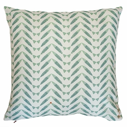 Herringbone Green Pillow