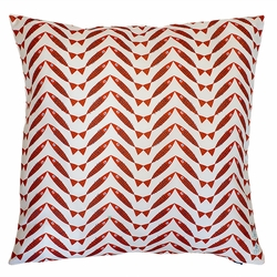 Herringbone Red Pillow