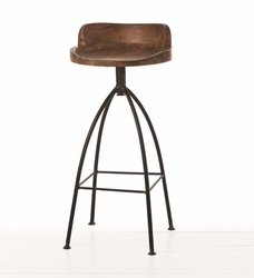 Hinkley Wood/Iron Bar Stool