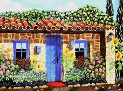 Home in Provence Beach Print