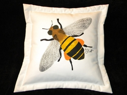 Honey Bee Indoor/Outdoor Pillow