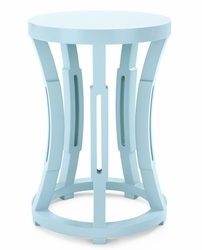 Hourglass Light Blue Side Table/Stool