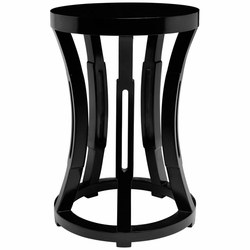 Hourglass Black  Side Table/Stool