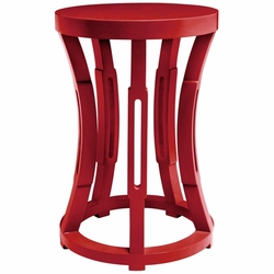 Hourglass Red Side Table/Stool