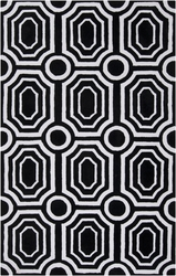 Hudson Park Black/White Pavers Plush Pile Rug