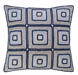 Indigrid Embroidered Decorative Pillow <font color=a8bb35> NEW</font>