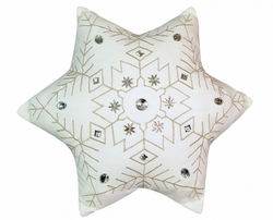 Indoor Cotton Six-Point Snowflake Pillow