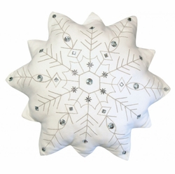 Indoor Cotton Snowflake Pillow