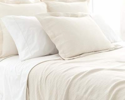 Interlaken Matelasse Ivory Coverlet