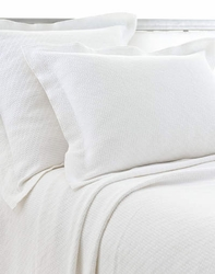 Interlaken Matelasse White Shams