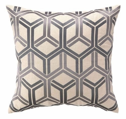 Interlock Embroidered Pillow - Lilac