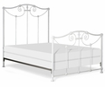 Iron Bed with Scrolls and Flowers