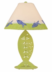 Iron Fish Table Lamp in Key Lime