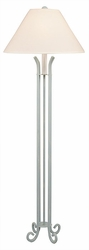 Iron Floor Lamp with 4-legs
