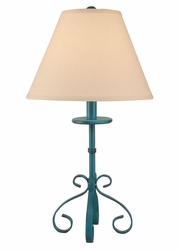 Iron S-Leg Table Lamp in Distressed Jade