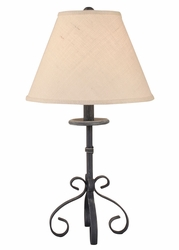 Weathered Navy Iron S-Leg Table Lamp