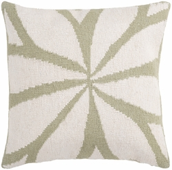 Ivory and Green Star Pillow<font color=cf2317> 20% Off</font>