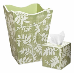Ivory Leaf Design Bath Set<font color=cf2317> Discontinued</font>