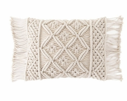 Jala Macrame Decorative Pillow<font color=cf2317> 20% Off</font>