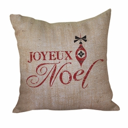 Joyeux Noel Pillow <font color=a8bb35> Discontinued</font>