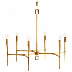 Jupiter Island Antique Brass Chandelier