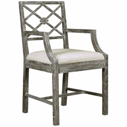 Kensington Arm Chair in Gray Limed Oak