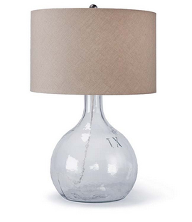 king nine recycled glass lamp for sale cottage bungalow