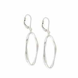Lagoon Link Silver Earrings