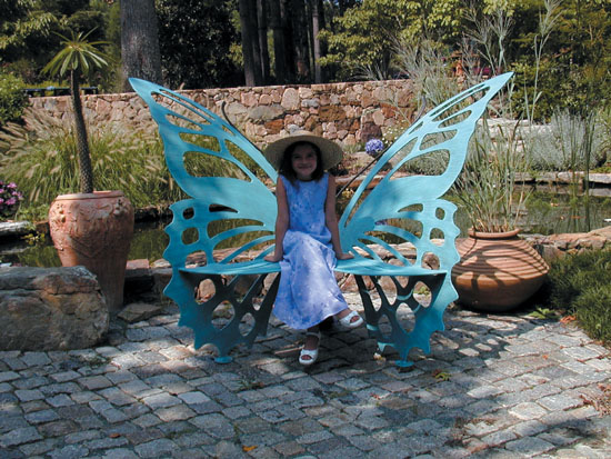 Metal Butterfly Bench Large For Sale Cottage Amp Bungalow