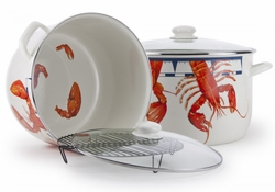 Large Lobster 18 Quart Stock Pot with Rack