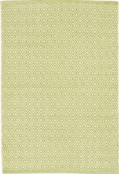 Lattice Green Citrus Woven Rug