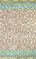 Lattice Swirl Jute Rug