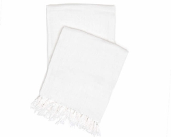 Laundered Linen White Throw