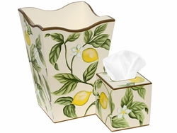 Lemons and Leaves Bath Set<font color=cf2317> Discontinued</font>