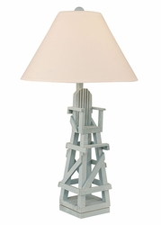 Life Guard Chair Table Lamp in Atlantic Grey