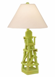 Life Guard Chair Table Lamp in Key Lime