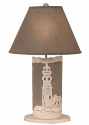 Lighthouse Scene Panel with Nightlight Lamp