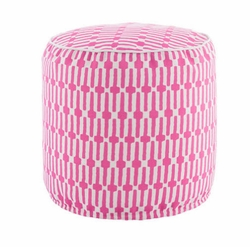 Links Fuchsia Indoor/Outdoor Pouf