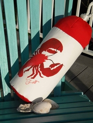 Lobster Buoy Lumbar Pillow