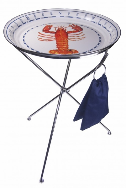 Lobster Large Tray With Collapsable Table Option For Sale Cottage Bungalow
