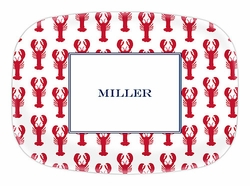 Lobster Red Melamine Platter