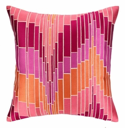 Loomis Pink Embroidered Pillow