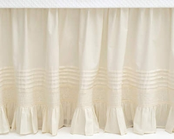"Louisa Ivory 18"" Gathered Bed Skirt <font color=a8bb35> 25% Off</font>"
