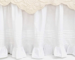 Louisa White Bedskirt<font color=cf2317> 20% Off</font>