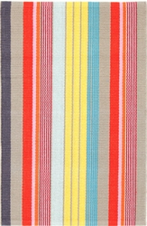 Lyric Stripe Woven Cotton Rug <font color=cf2317>20% OFF</font>