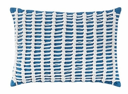 Macrame Pillow in Blue<font color=a8bb35> Limited Stock</font>