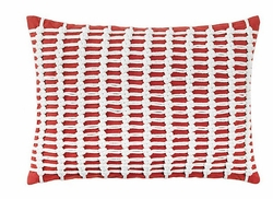 Macrame Pillow in Red