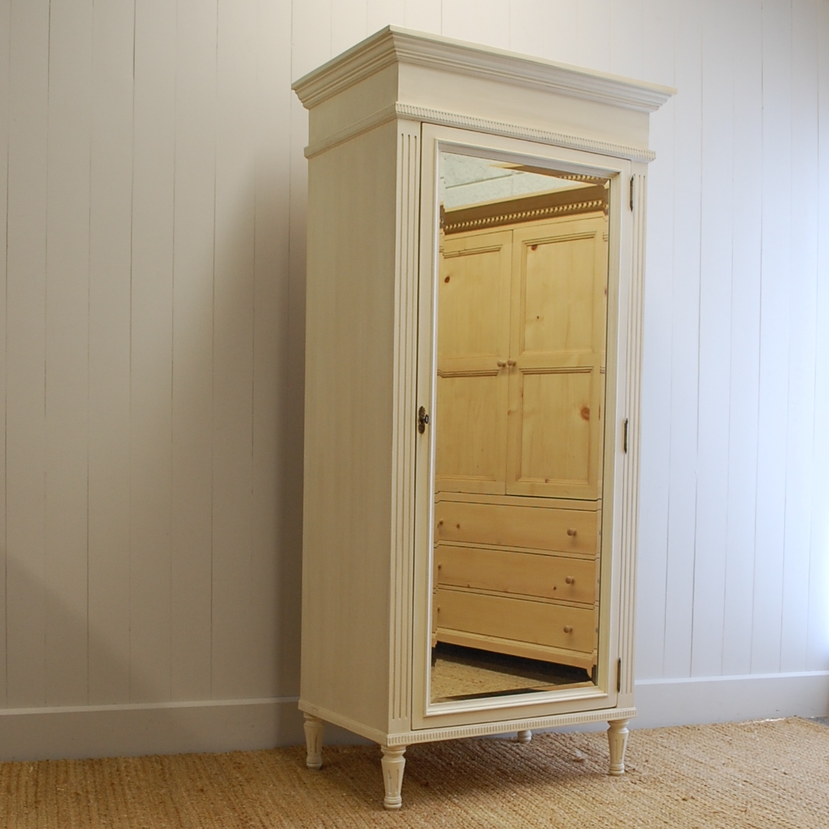 Mirrored Armoire: Madeline Mirrored Armoire For Sale