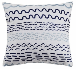 Making Waves Embroidered Pillow