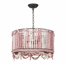Malibu Weathered Pink Drum Pendant